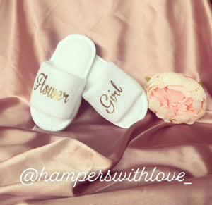Flower girl slippers