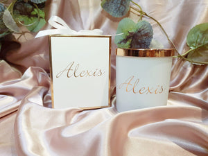 Personalised Electroplated Candle