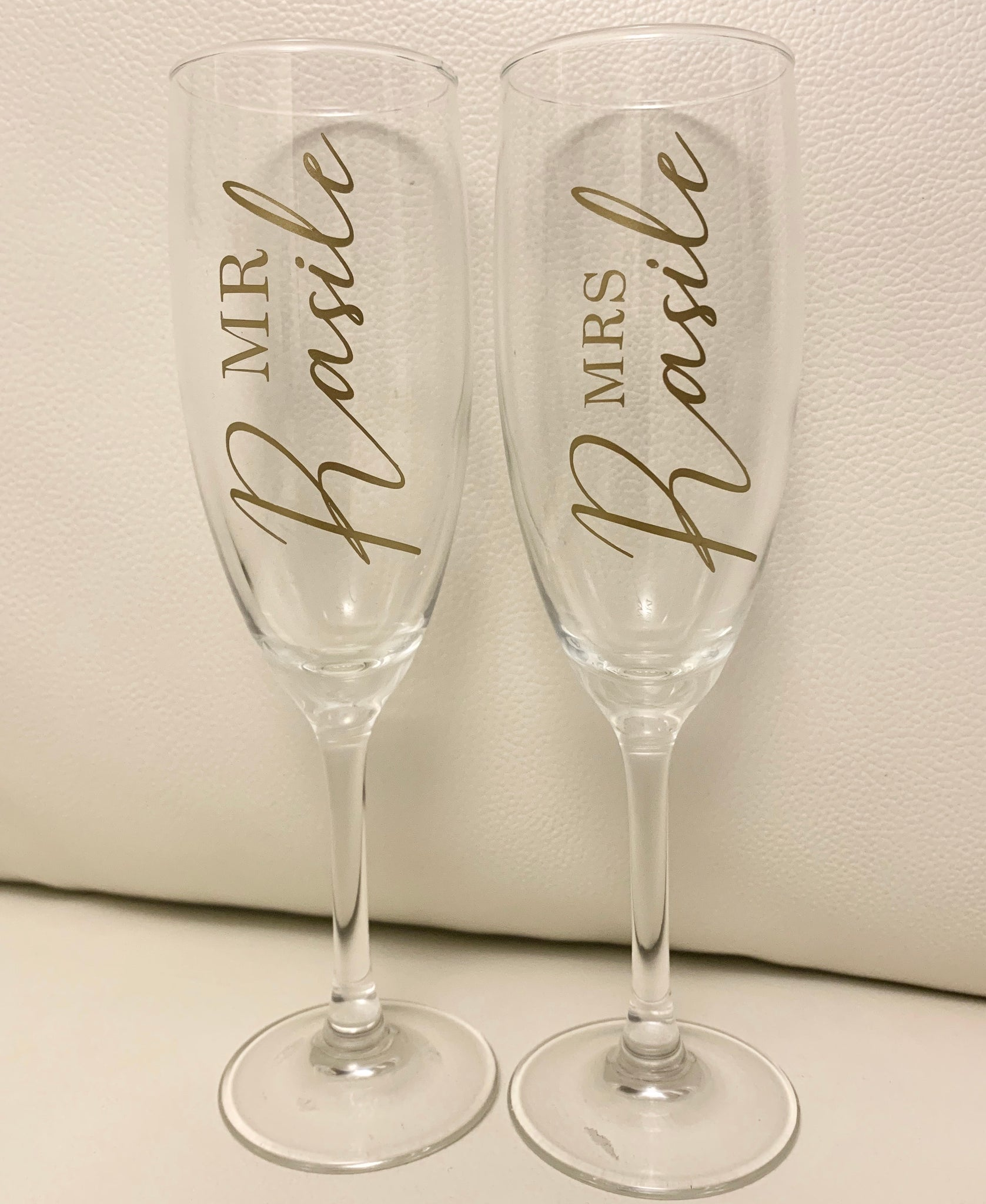 Twin pack wine glasses