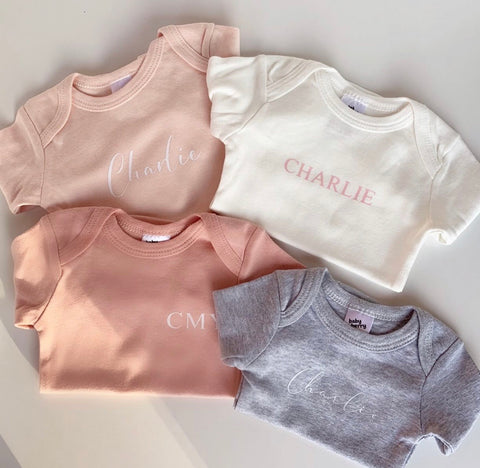 Baby Personalised Bodysuits 4pack