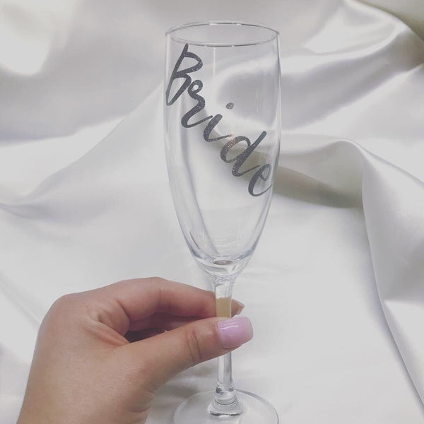 Personalised flute glass