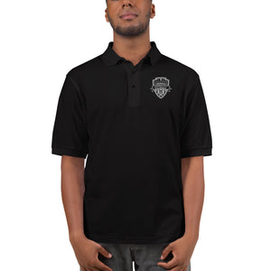 Embroidered Men's Polo Shirt Black