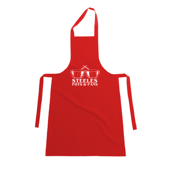 Steeles Pots & Pans Red Apron