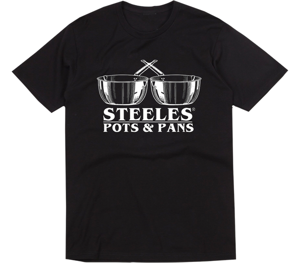 BLACK STEELES POTS AND PAN T-SHIRT