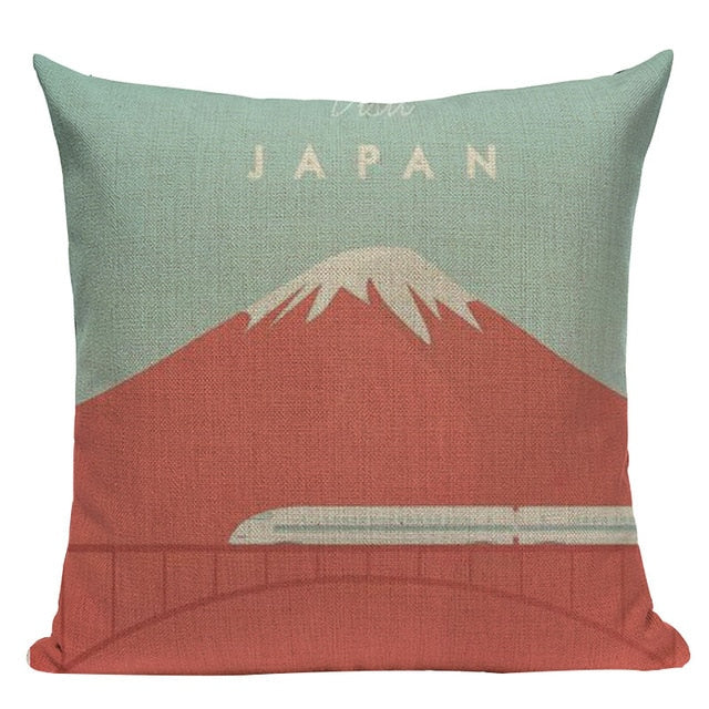 Mount Fuji Cushion Cover