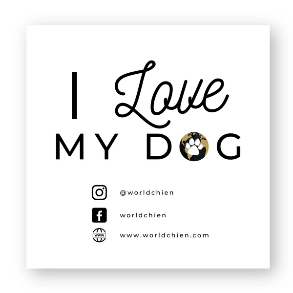 Sticker Worldchien I love my dog réseaux