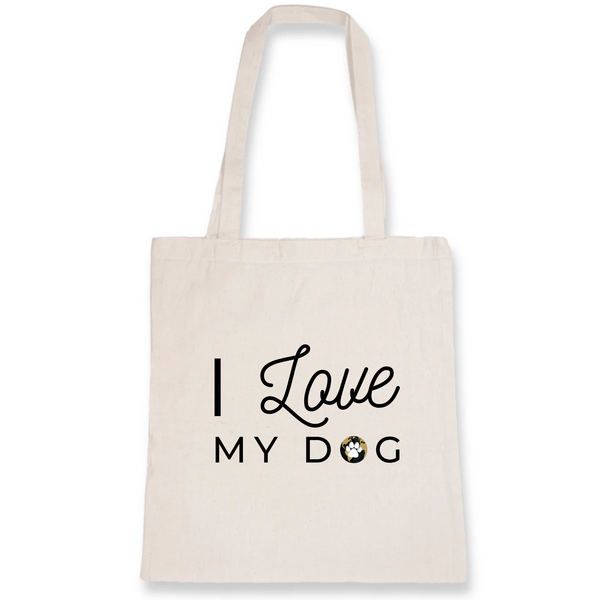 Totebag I Love My Dog Coton bio