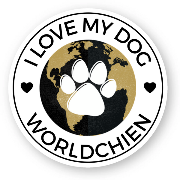 Sticker I LOVE MY DOG Worldchien™