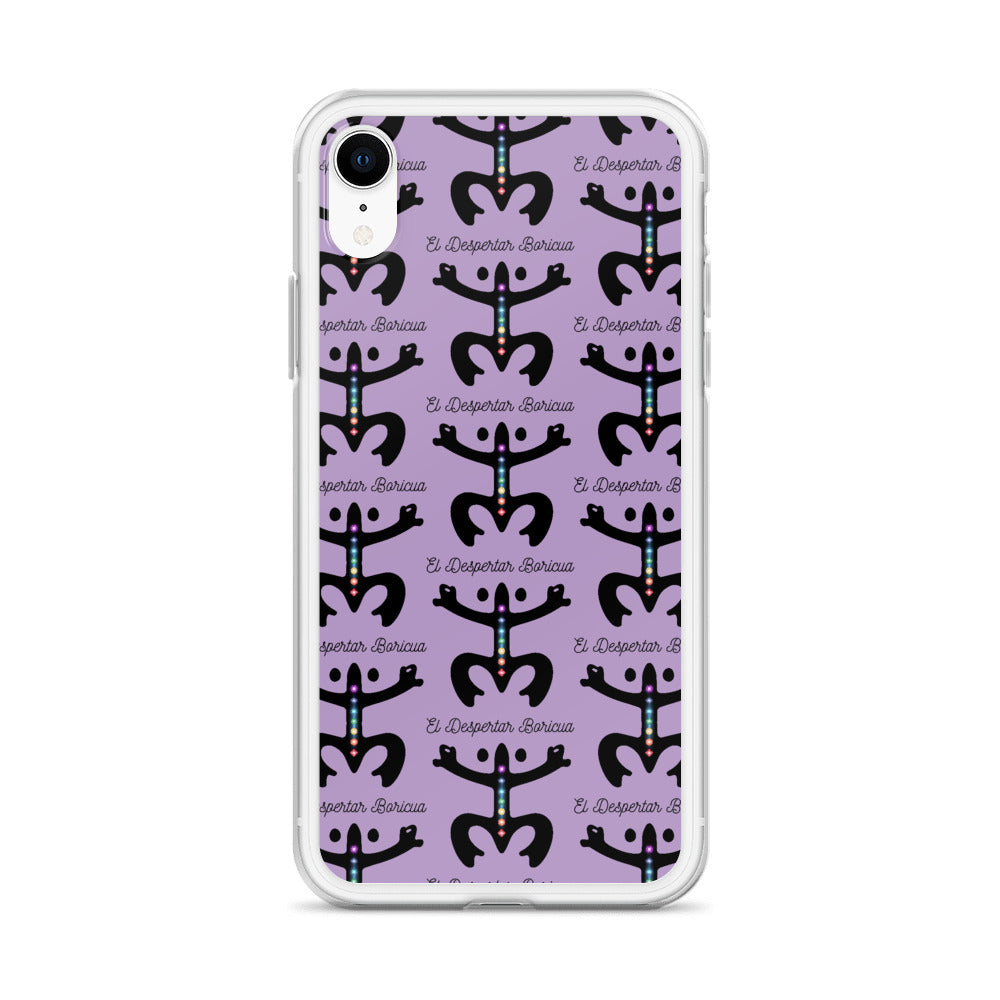 iPhone Case Puerto Rico Despertar Taino Estampado Púrpura