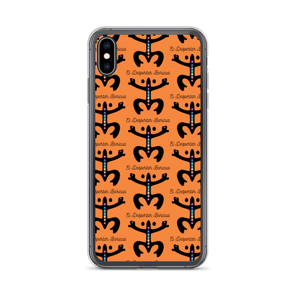 iPhone Case Puerto Rico Despertar Taino Estampado Naranja