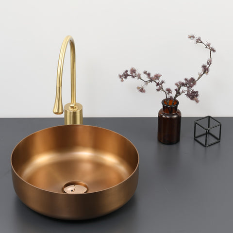 Copper stainless steel basin