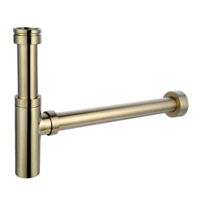 Aurora Adjustable Bottle P Trap - Brushed Brass