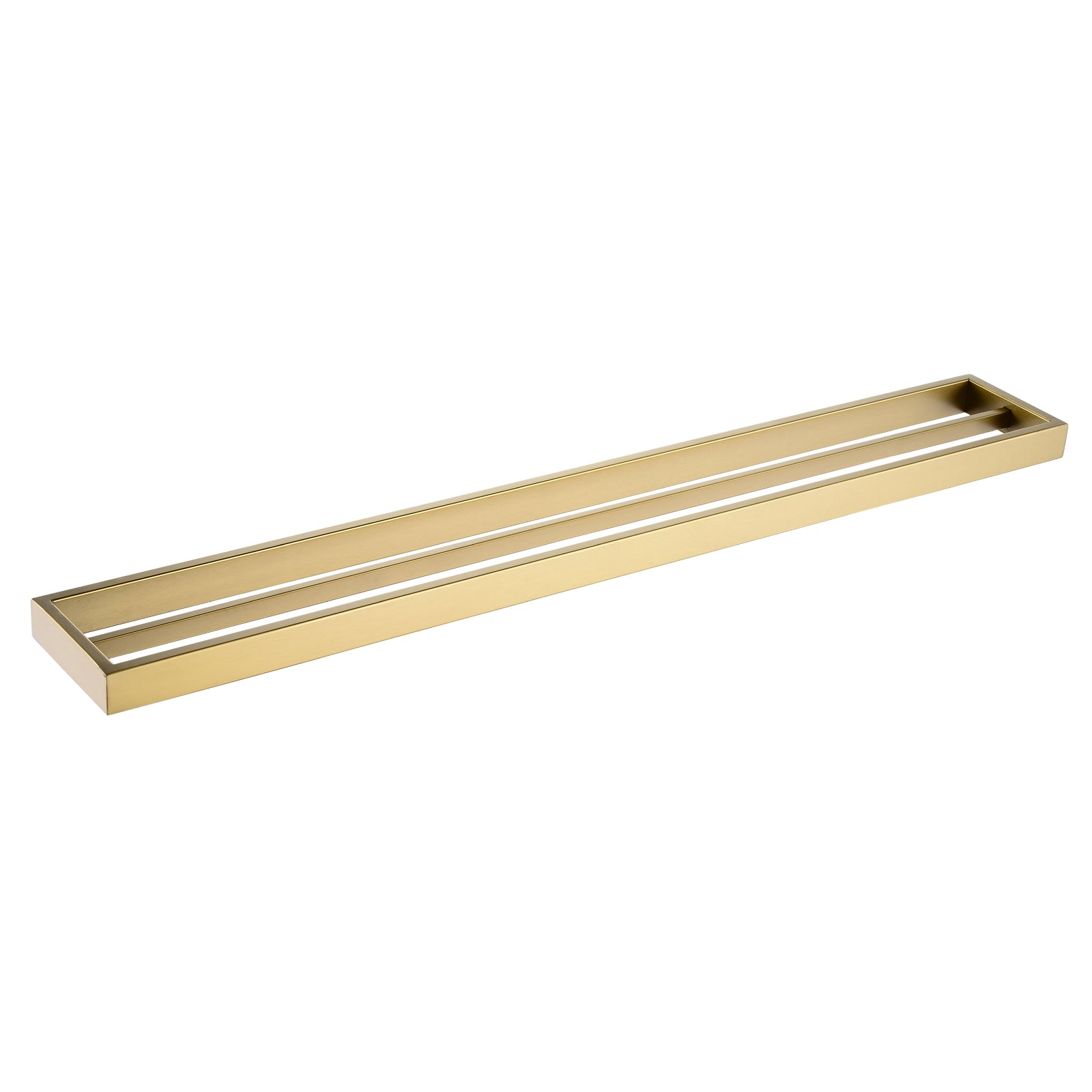 Cavallo Brushed Yellow Gold Square Double Towel Rail 800mm