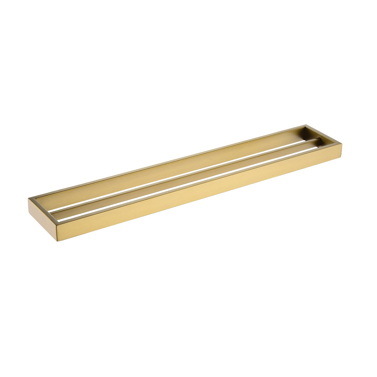 Cavallo Brushed Yellow Gold Square Double Towel Rail 600mm