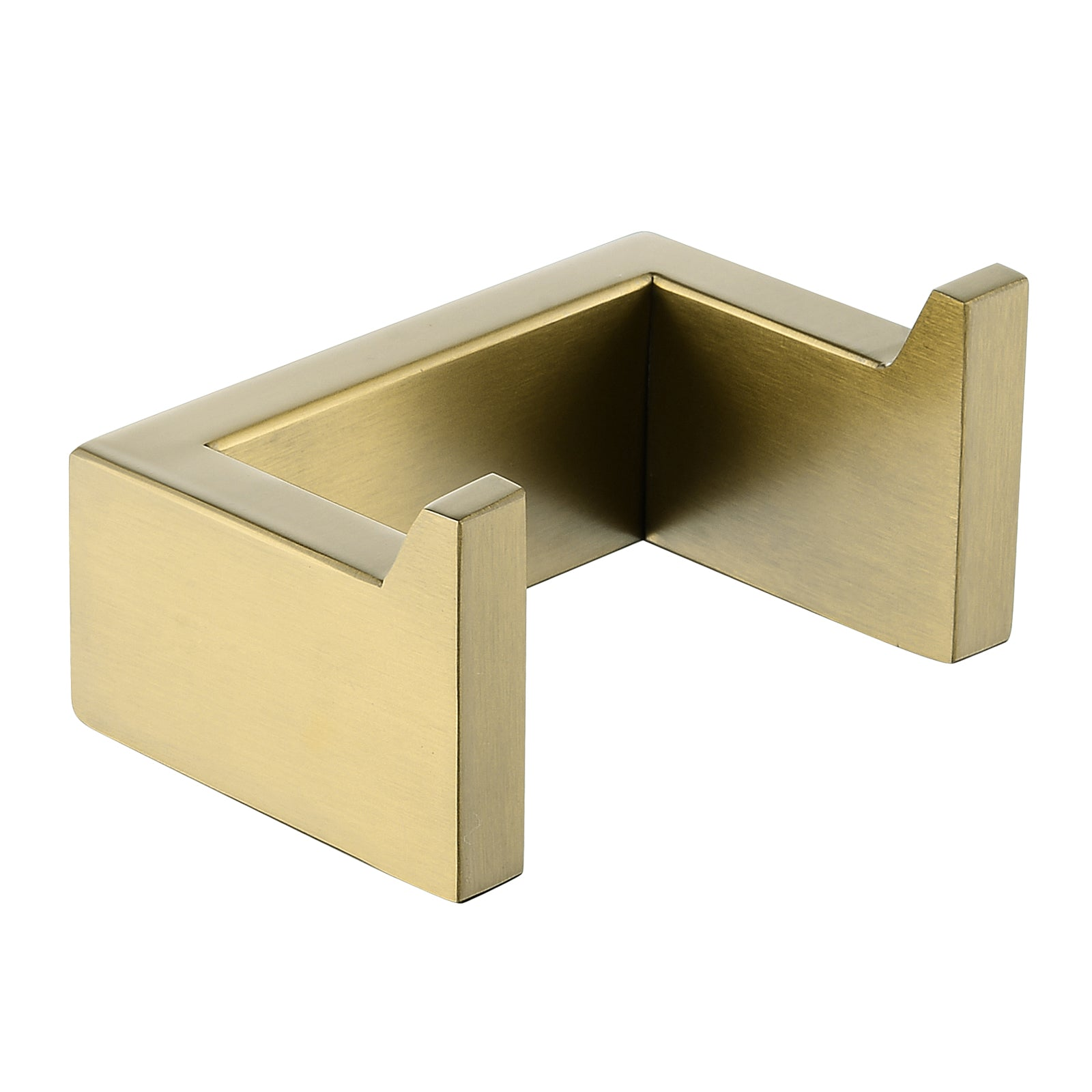 Norico Cavallo Brushed Yellow Gold Square Double Robe Hook