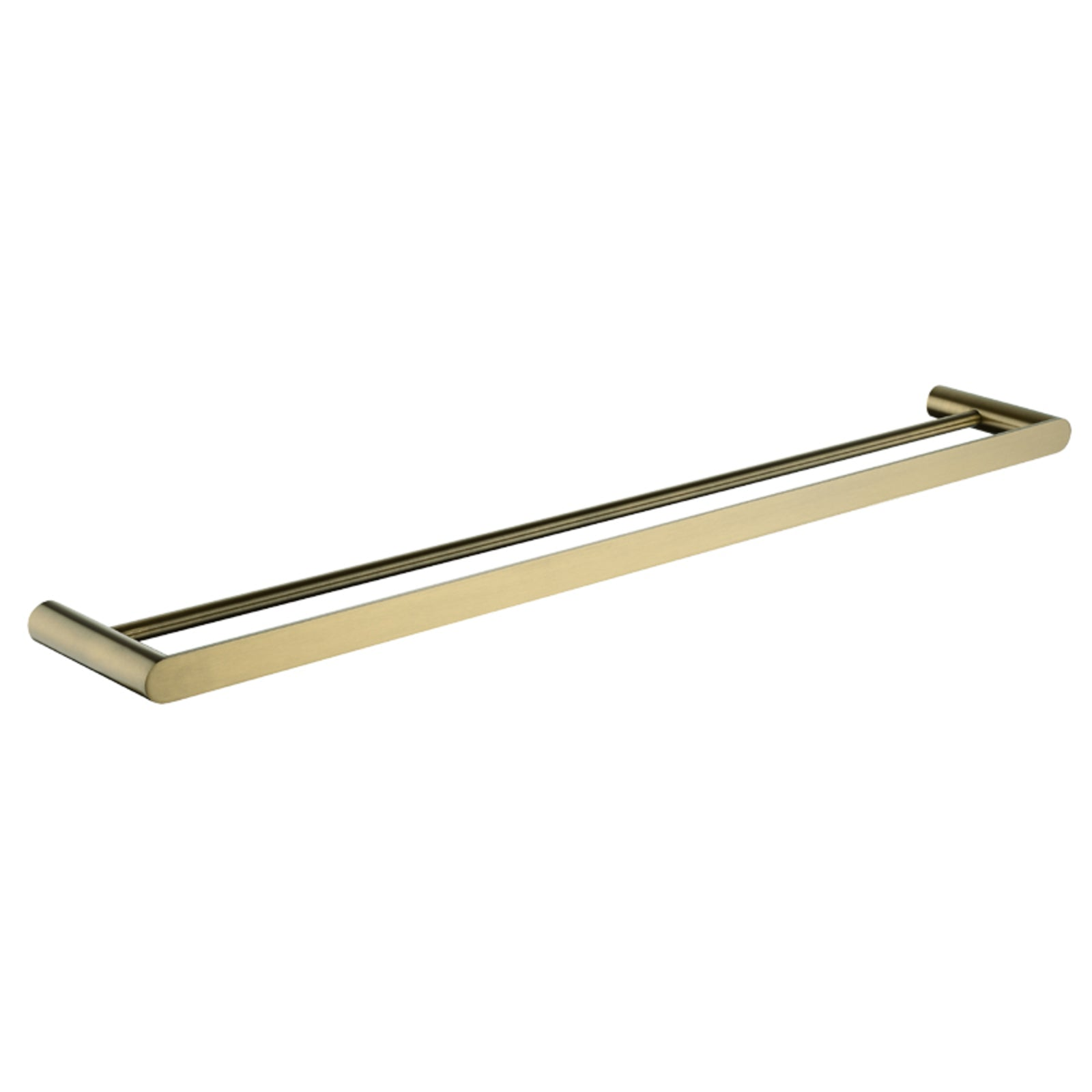 Esperia Brushed Yellow Gold Double Towel Rail 800mm