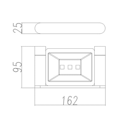 Norico Esperia Soap Dish Holder Specification Drawing