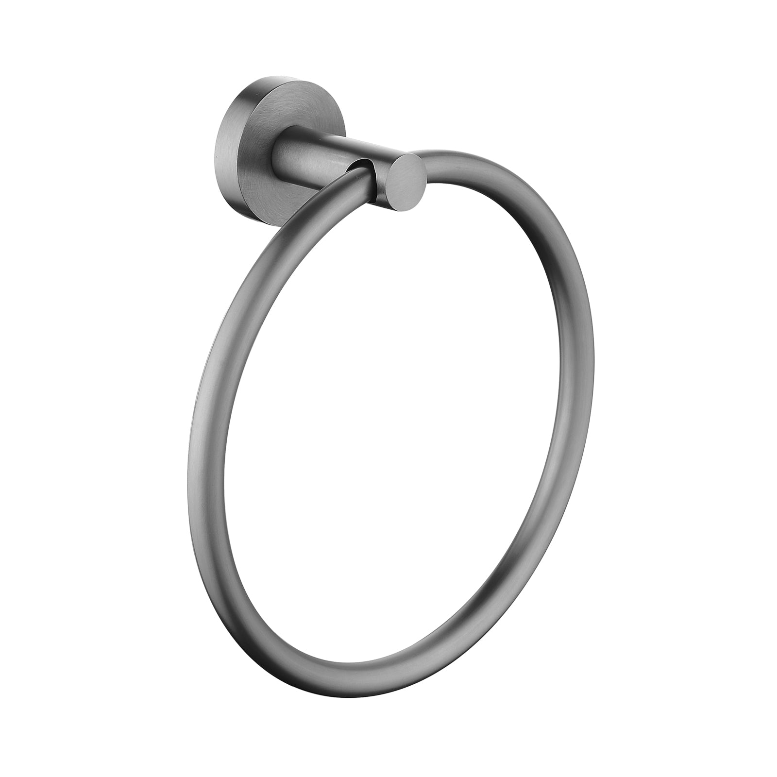 Pentro Gun Metal Grey Round Wall Mounted Round Hand Towel Ring