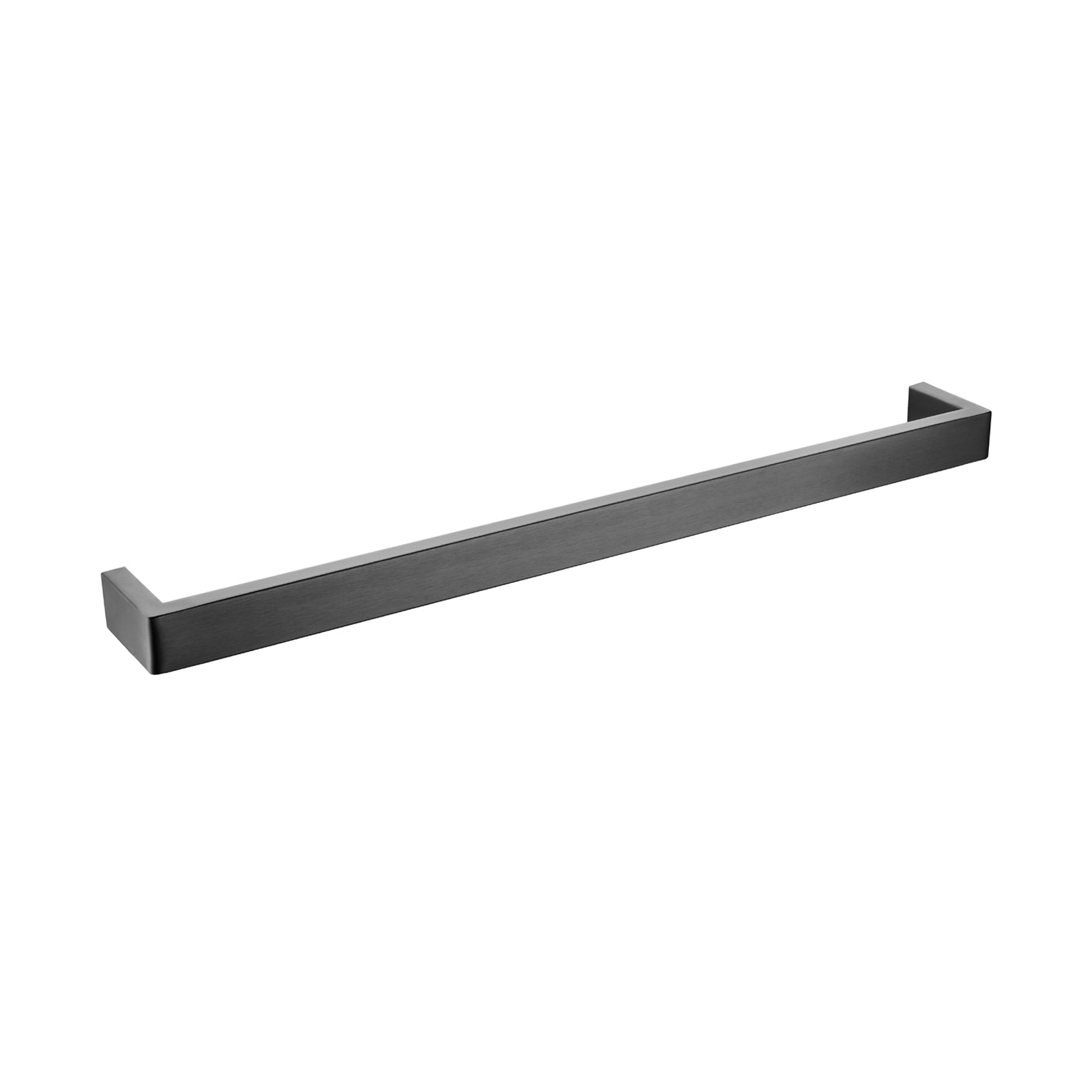 Cavallo Gun Metal Grey Square Single Towel Rail 600mm