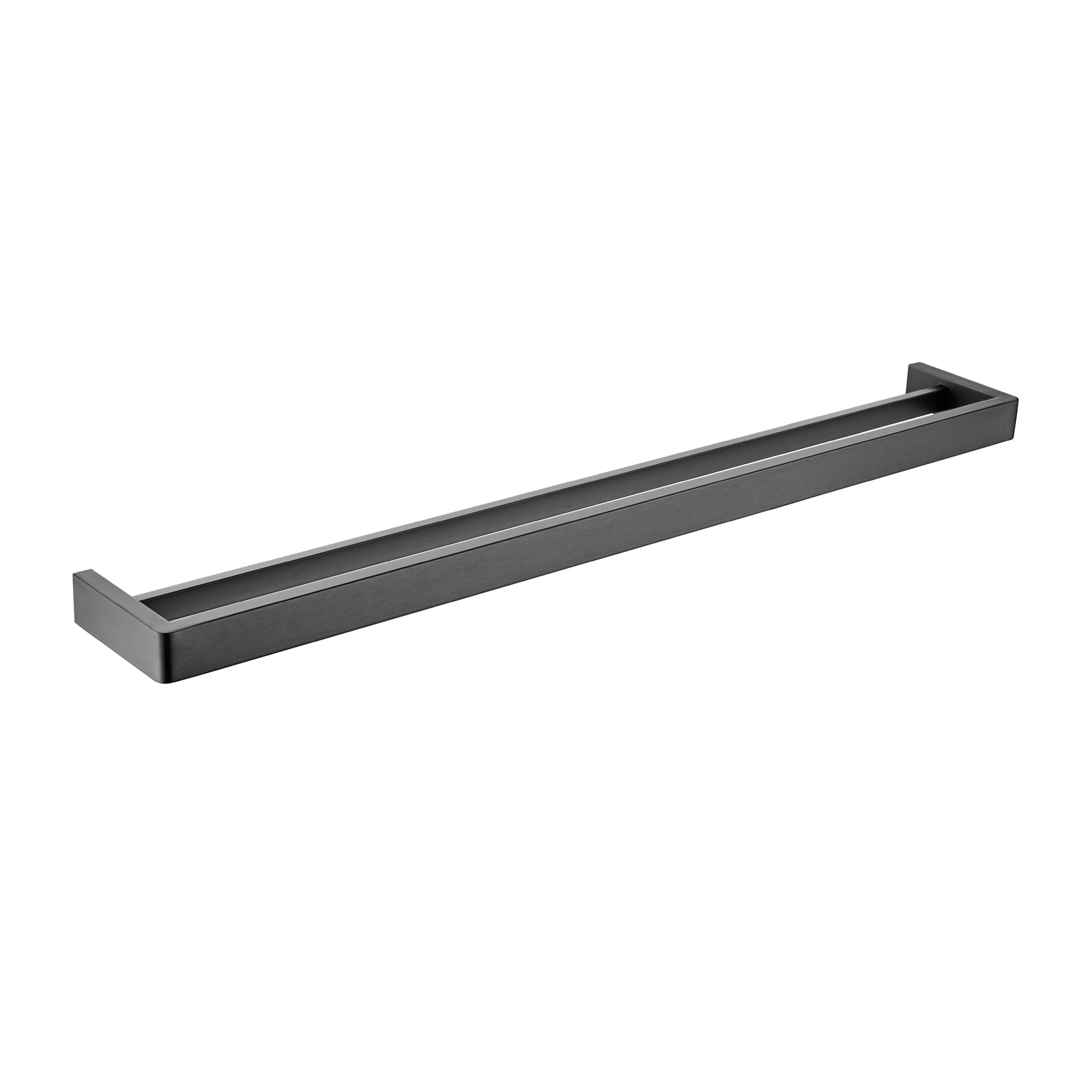 Cavallo Gun Metal Grey Square Double Towel Rail 800mm