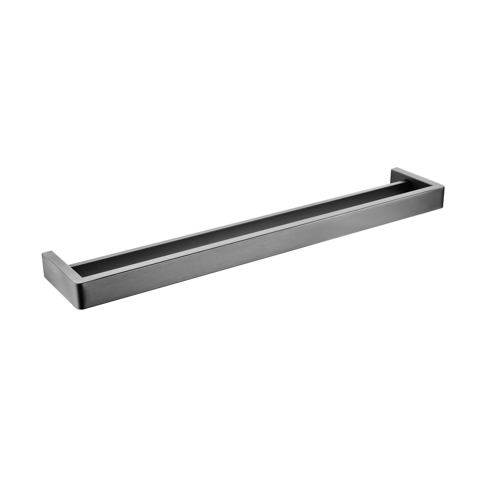 Cavallo Gun Metal Grey Square Double Towel Rail 600mm