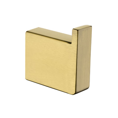Norico Cavallo Brushed Yellow Gold Square Robe Hook