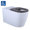 ASTA Disability Wall Faced Pan with Brown Seats