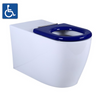 ASTA Disability Wall Faced Pan with Blue Seats