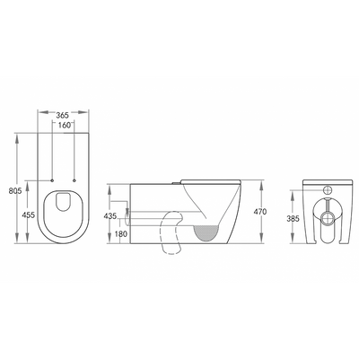 ASTA Disability Wall Faced Pan Specification Drawing