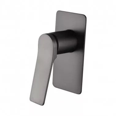RUSHY Square Brushed Gun Metal Grey Built-in Shower Mixer