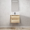 Inspire Bathware BYRON Wall Hung Vanity 600mm Natural Oak
