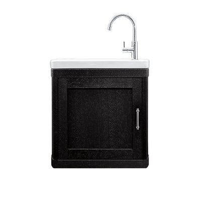BURNLEY 500x260 Room Basin & Vanity Unit Black