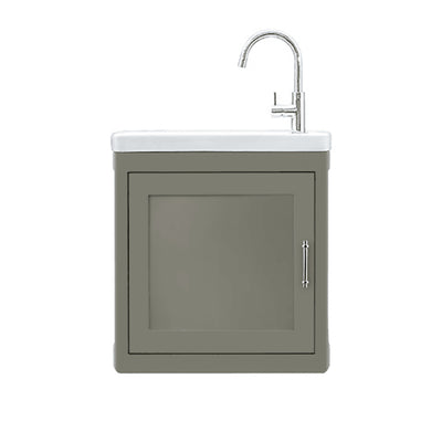 BURNLEY 500x260 Room Basin & Vanity Unit Dark Green