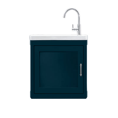 BURNLEY 500x260 Room Basin & Vanity Unit Dark Blue