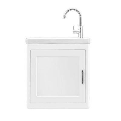BURNLEY 500x260 Room Basin & Vanity Unit White