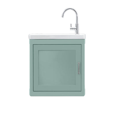 BURNLEY 500x260 Room Basin & Vanity Unit Light Blue
