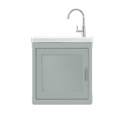 BURNLEY 500x260 Room Basin & Vanity Unit Light Grey