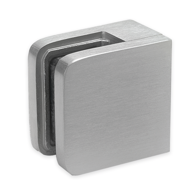 Glass Clamp - Square Front to Wall/ Square Post