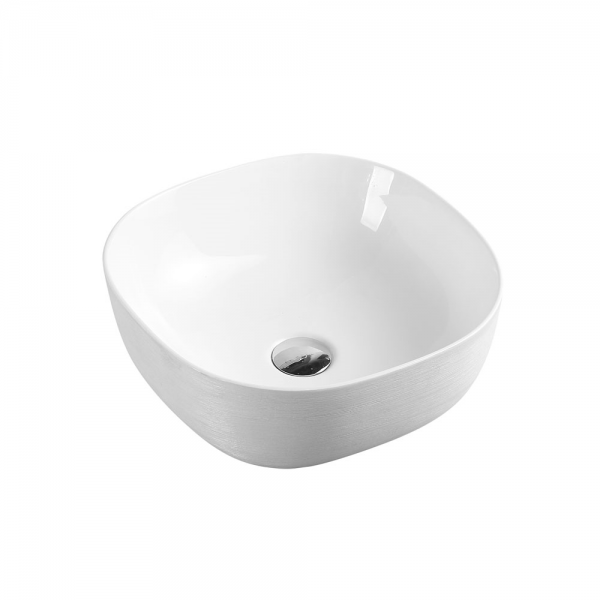 CHUR Round Counter Top Basin Touchline White 410mm