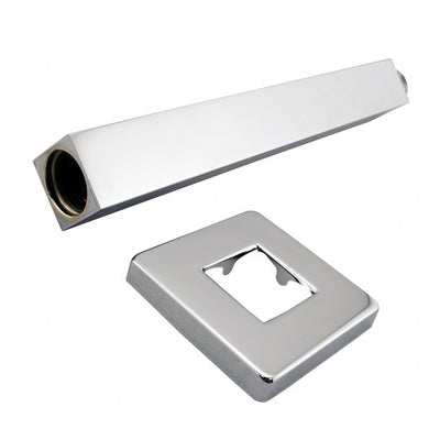 BLAZE Square Chrome Ceiling Shower Arm 200mm