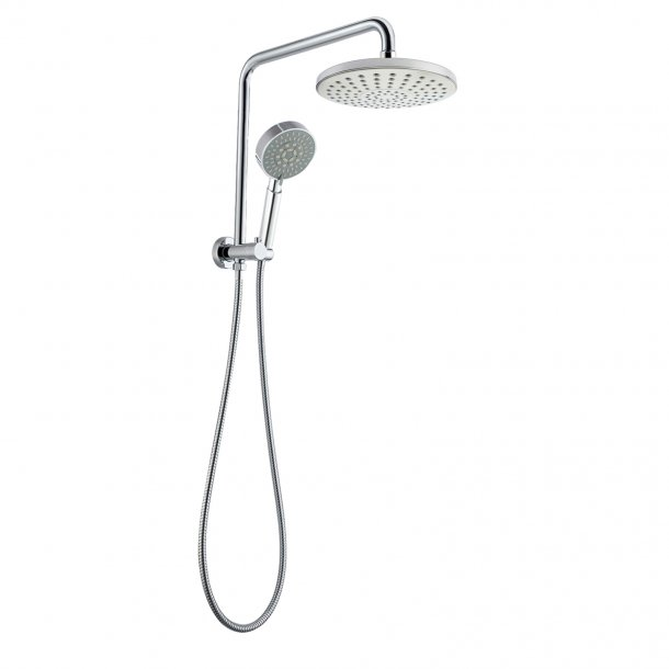 Round Chrome Shower Station 200mm
