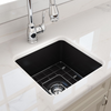 Cuisine 46 x 46 Inset / Undermount Fine Fireclay Sink  Specification Drawing