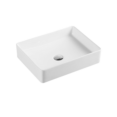 ETNA Rectangle Counter Top Basin Matte White 470x360mm