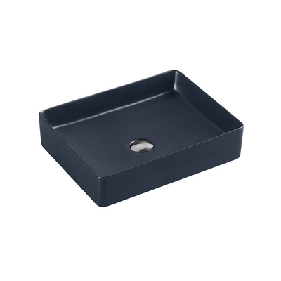 ETNA Rectangle Counter Top Basin Nero Grey 470x360mm