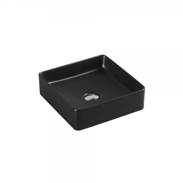 ETNA Square Counter Top Basin Black 360mm