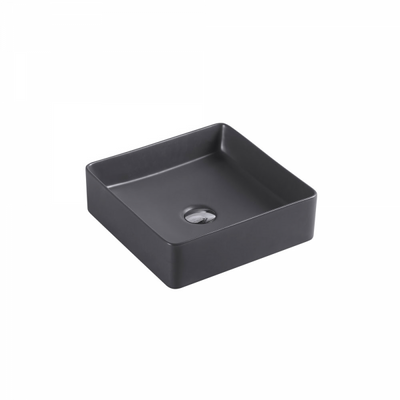 ETNA Square Counter Top Basin Nero Grey 360mm