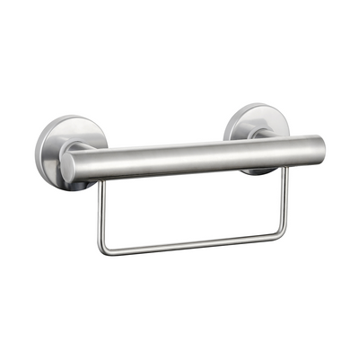 Grab Rail With Towel Rail 300mm Stainless Steel