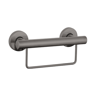Grab Rail With Towel Rail 300mm Gunmetal