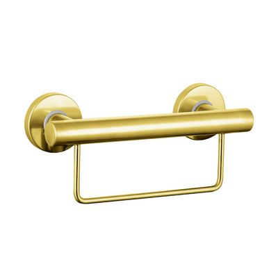 Grab Rail With Towel Rail 300mm Gold