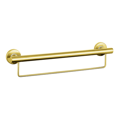 Grab Rail With Towel Rail 600mm Stainless Steel Gold